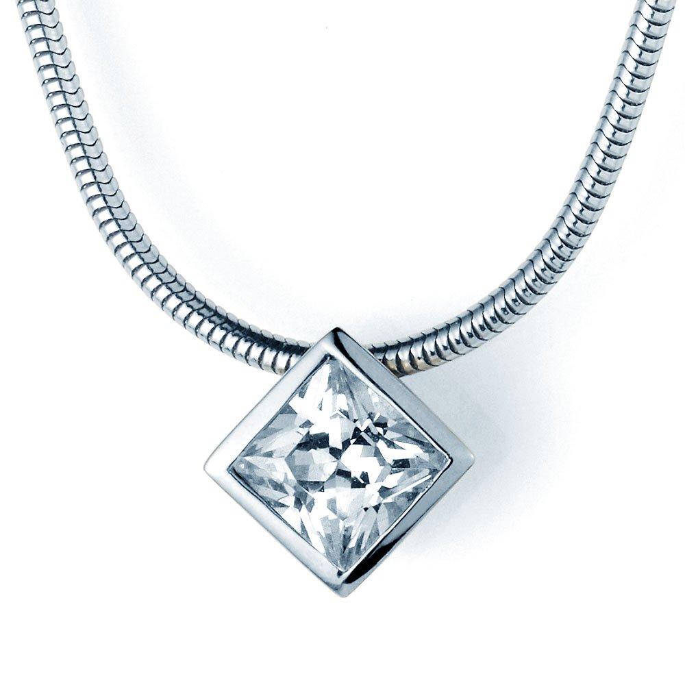 Diamantanhänger Rhombus Big in 18K Weißgold, ohne Kette online kaufen