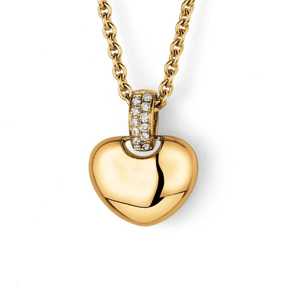 Anhänger Sparkling Heart Small in 14K Gelbgold, ohne Kette online kaufen