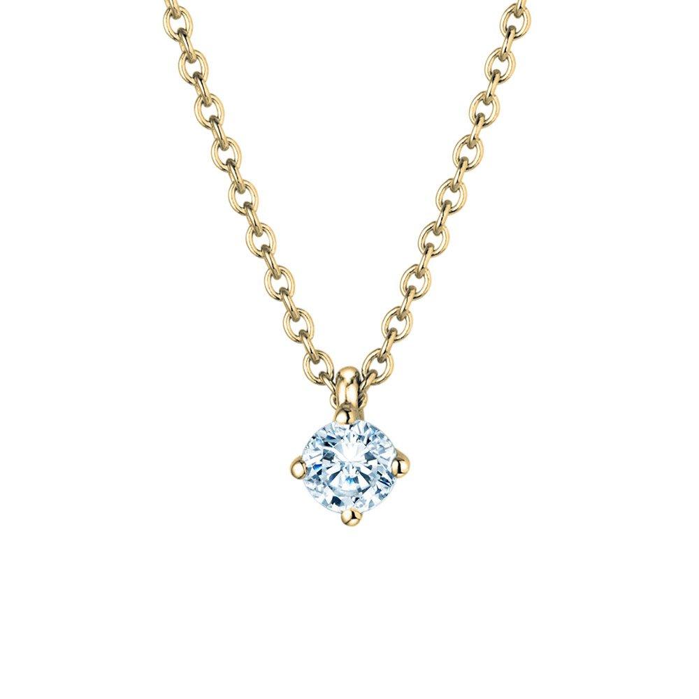 Anhänger Modern in 18K Gelbgold mit Diamant online kaufen