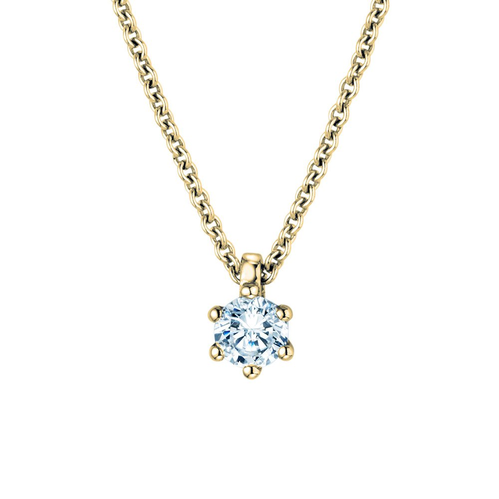 Anhänger Classic in 18K Gelbgold mit Diamant online kaufen