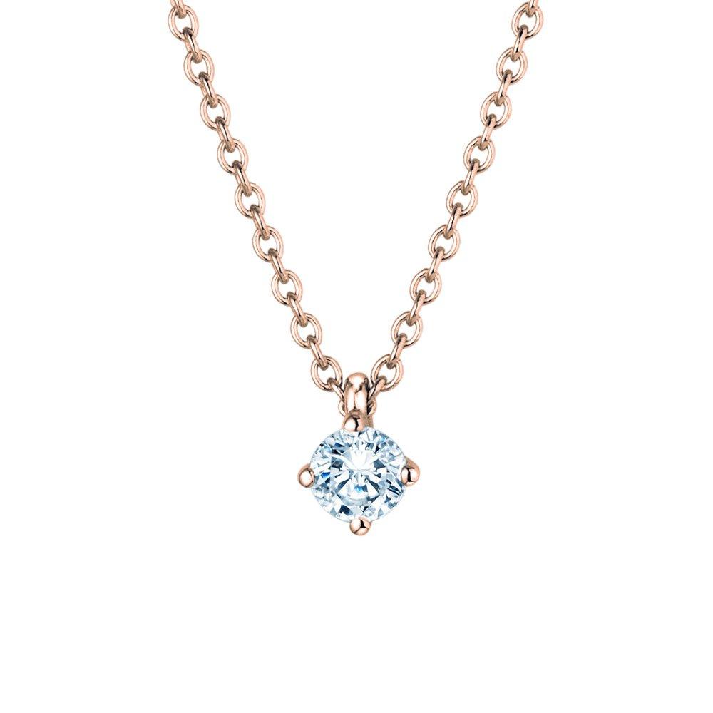 Anhänger Modern in 18K Roségold mit Diamant online kaufen