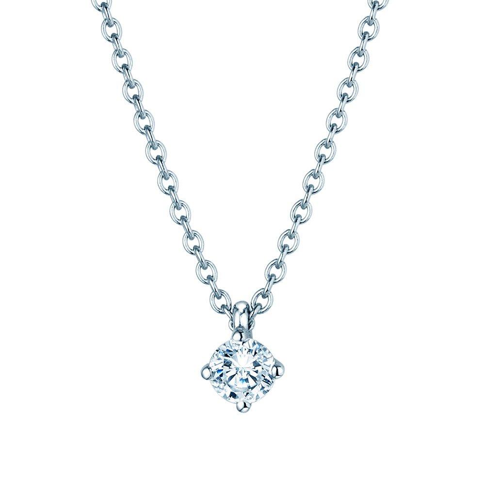 Anhänger Modern in Platin mit Diamant online kaufen