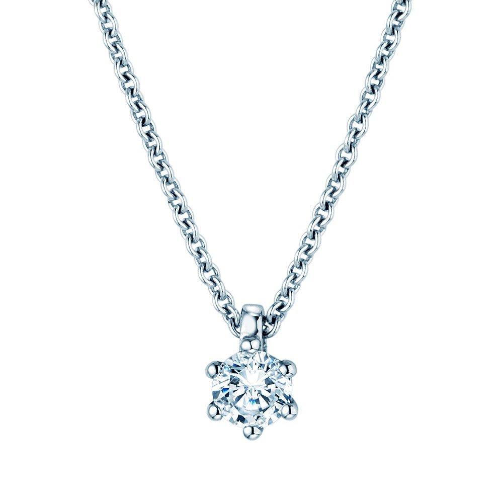 Anhänger Classic in 18K Weißgold mit Diamant online kaufen