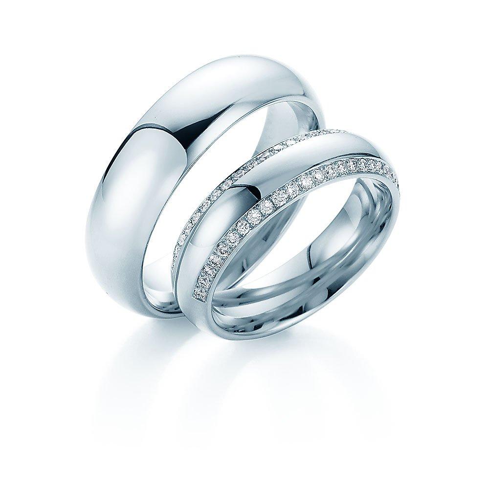 """Eheringe """"Life Lines"""" in Platin 950/- mit Diamanten 0,50ct online kaufen"""