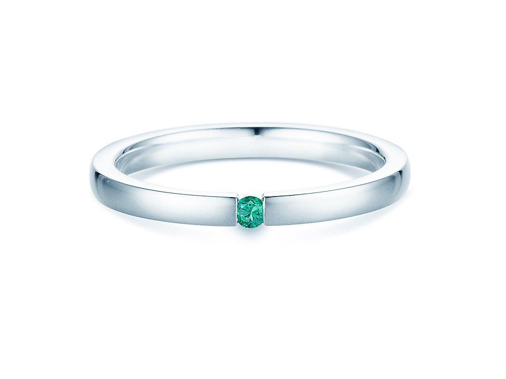 Smaragdring Infinity in Weißgold online kaufen