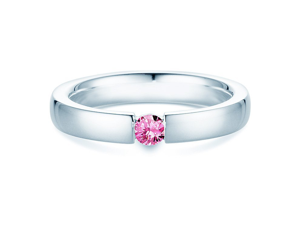 Pinker Turmalinring Infinity in Platin online kaufen