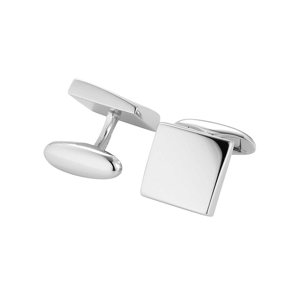 handgefertigte Manschettenknöpfe Cosmopolitan in Silber (925/‑), 14,5 x 14,5mm online kaufen