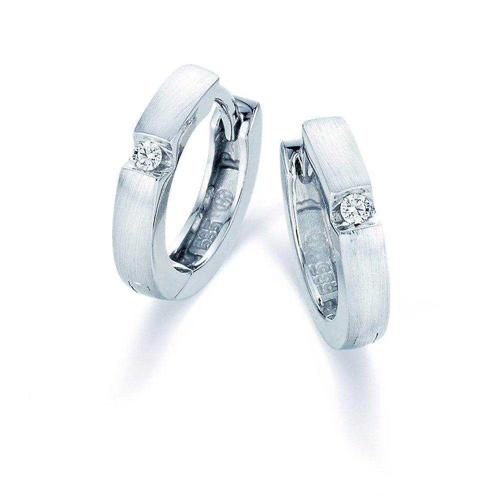 Magic Diamant Creolen klein in 14K Weißgold online kaufen