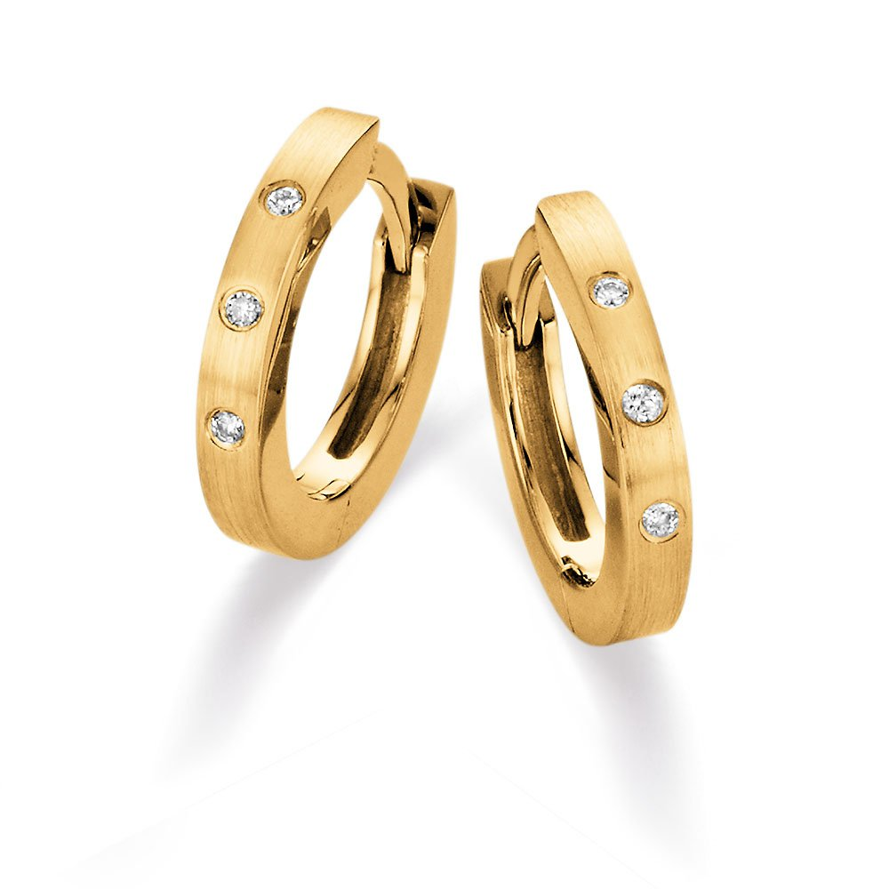 Diamant-Creolen in 14K Gelbgold online kaufen