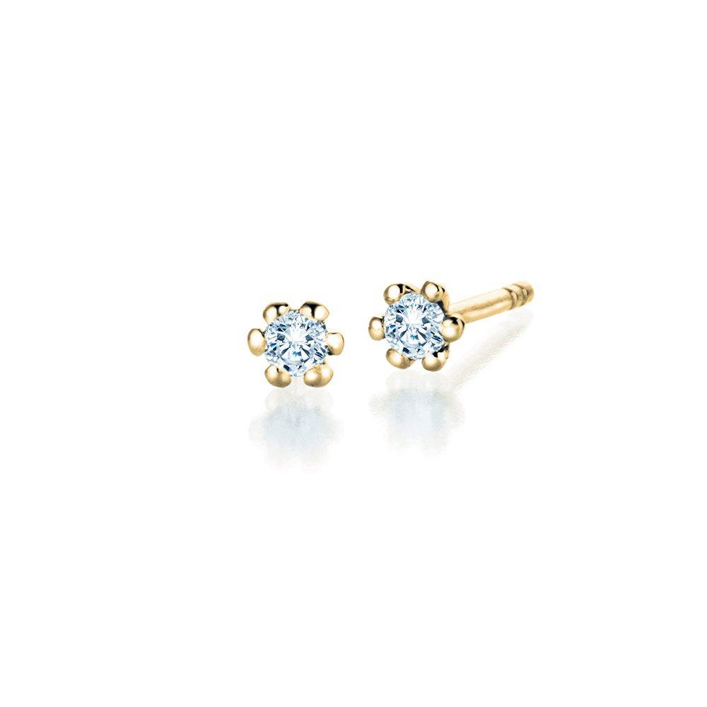 Ohrstecker Classic in 18K Gelbgold mit Diamant online kaufen