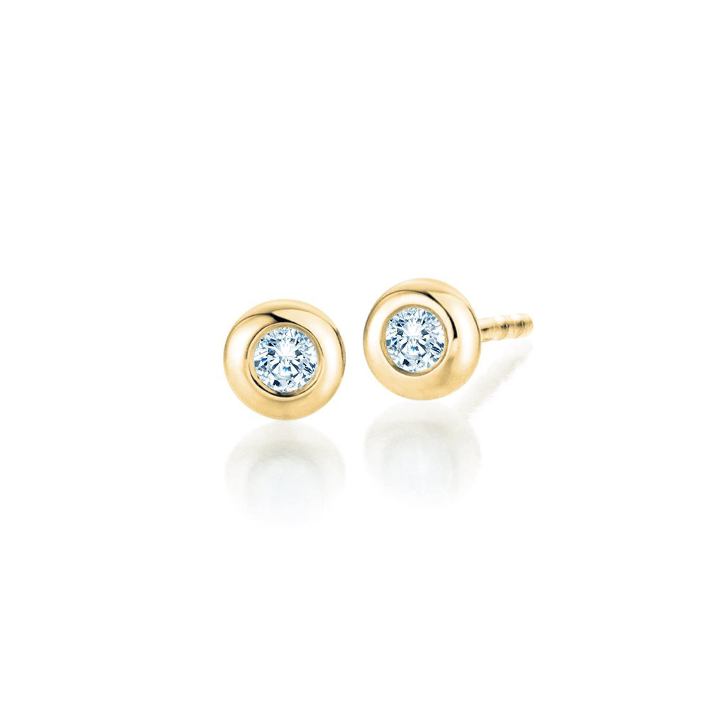 Ohrstecker Eternal in 18K Gelbgold mit Diamant online kaufen