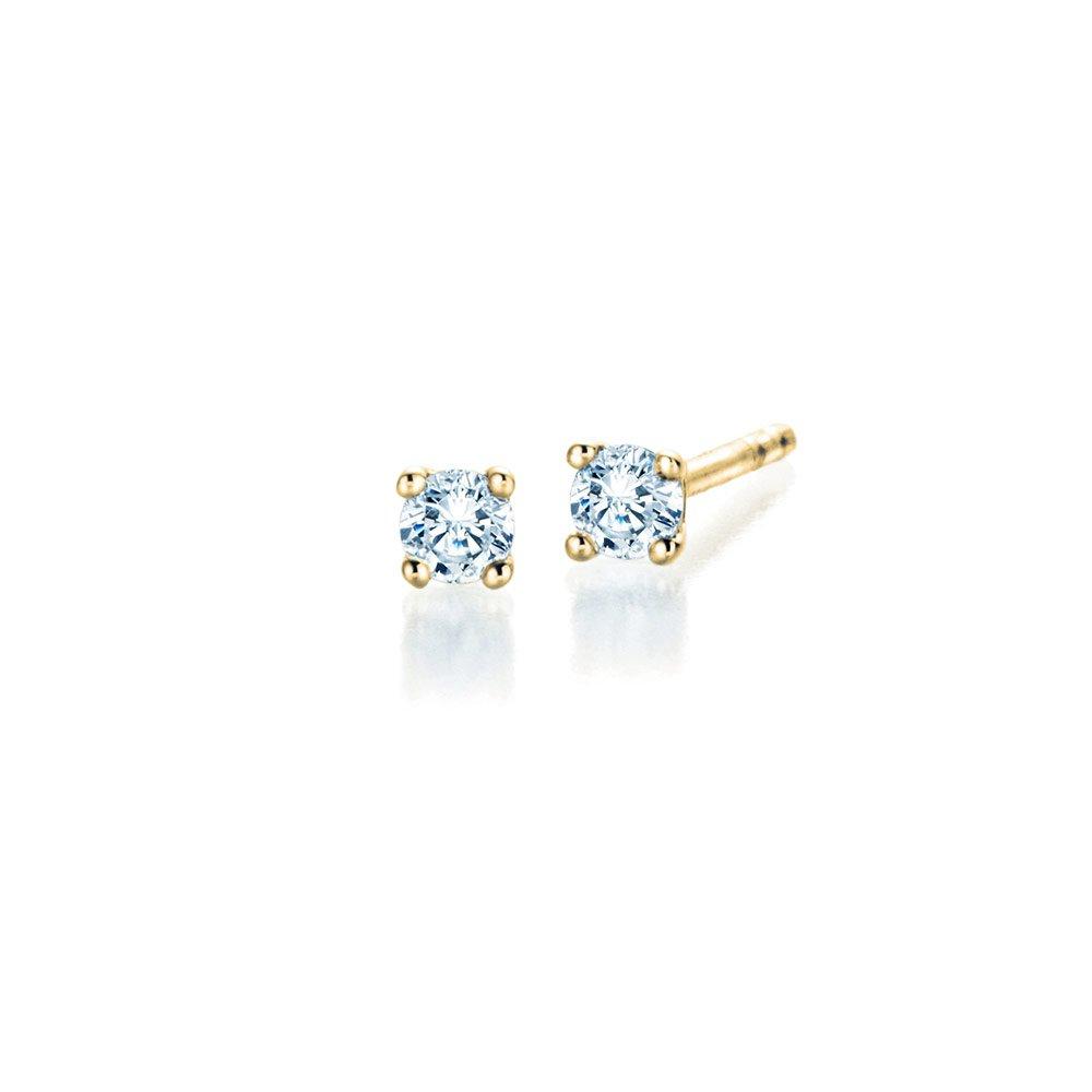 Ohrstecker Modern in 18K Gelbgold mit Diamant online kaufen