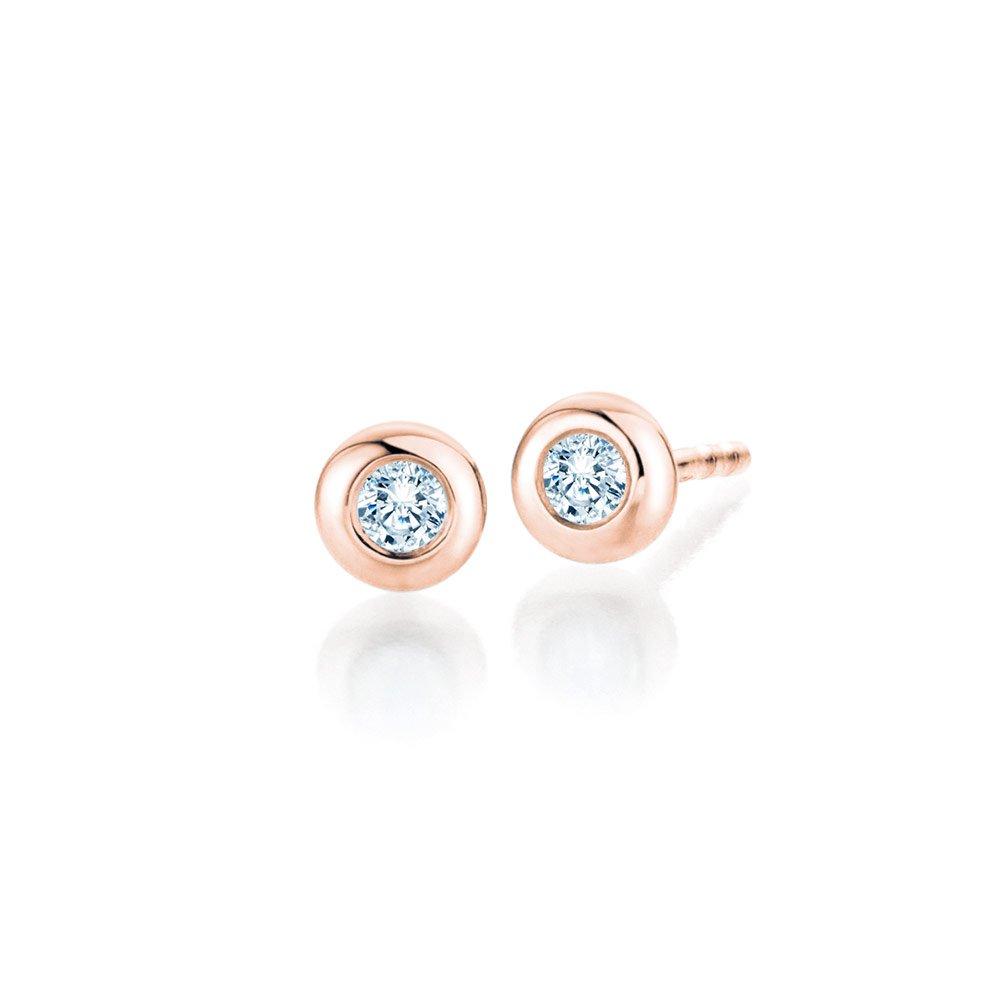 Ohrstecker Eternal in 18K Roségold mit Diamant online kaufen