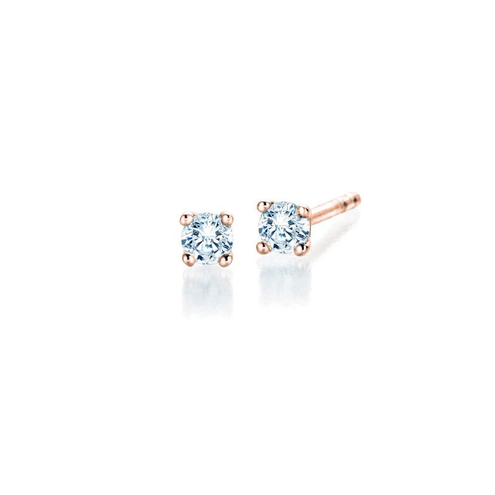 Ohrstecker Modern in 18K Roségold mit Diamant online kaufen