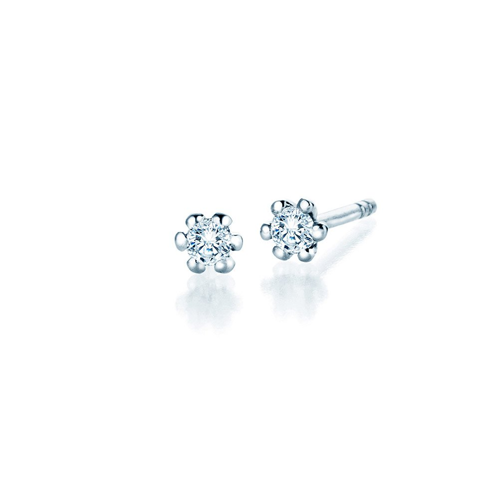 Ohrstecker Classic in Platin mit Diamant online kaufen