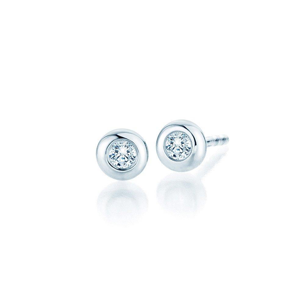 Ohrstecker Eternal in Platin mit Diamant online kaufen