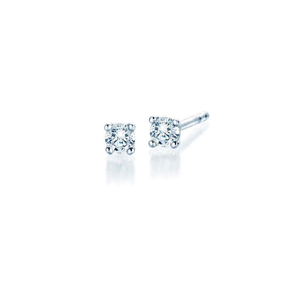 Ohrstecker Modern in Platin mit Diamant online kaufen