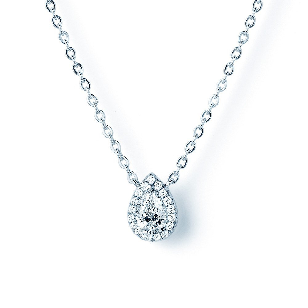Collier Star Drop in 18K Weißgold mit Diamant 0,27ct online kaufen