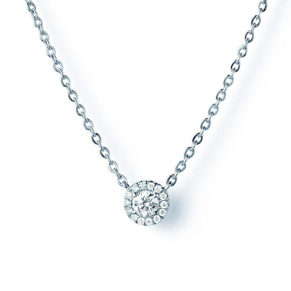 Collier Star Spot in 18K Weißgold mit Diamant 0,18ct online kaufen