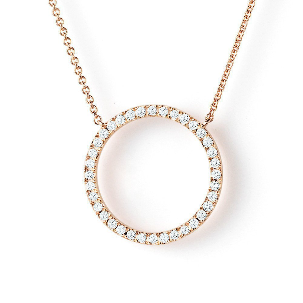 Collier Light Circle in 18K Roségold mit Diamant 0,18ct online kaufen