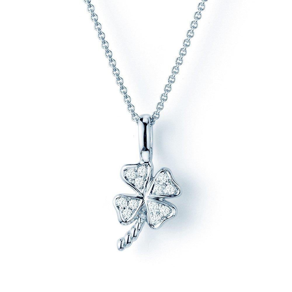 Collier Diamond Luck in 18K Weißgold mit Diamant 0,07ct, ohne Kette online kaufen