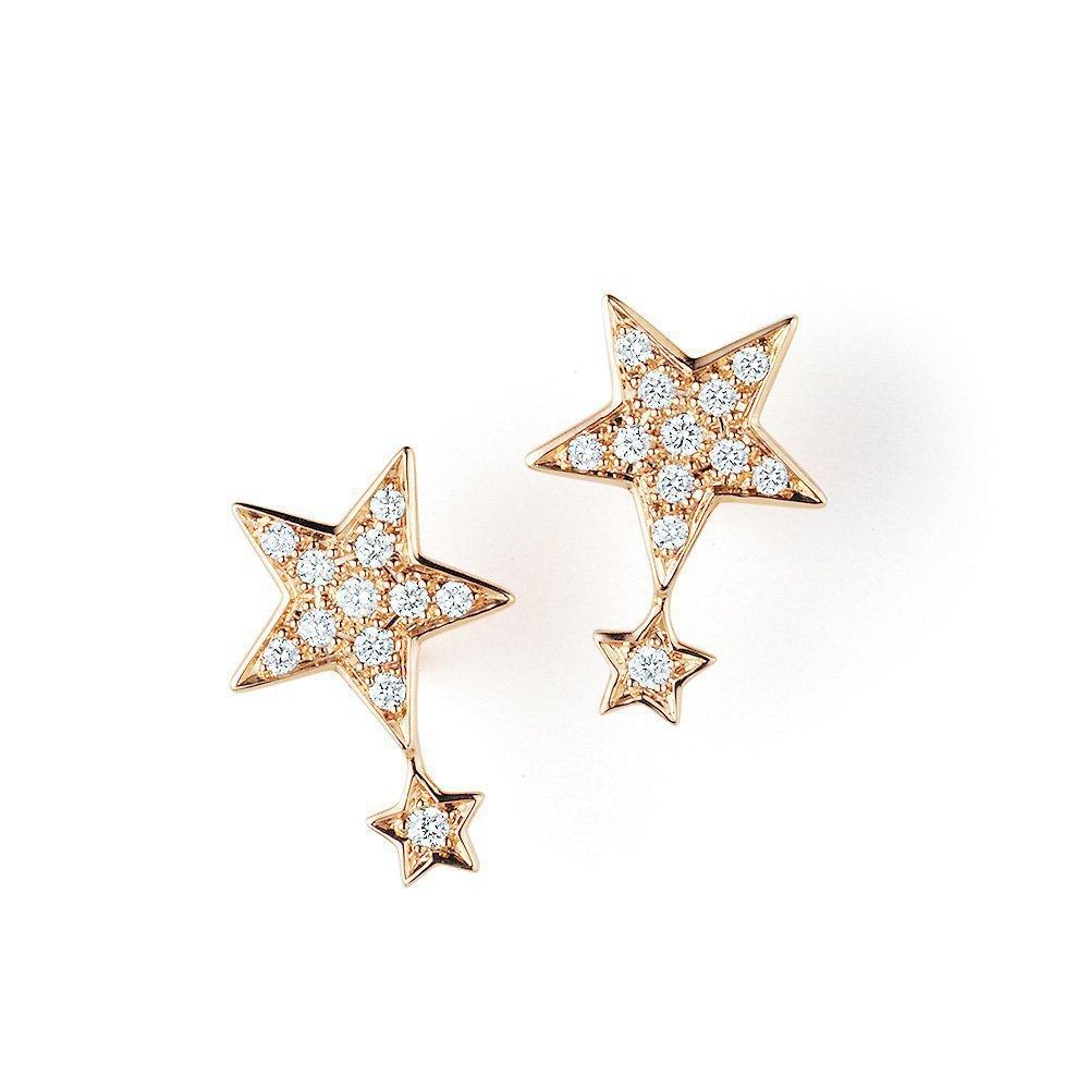 Ohrschmuck Little Big Star in 18K Roségold mit Diamant 0,18ct online kaufen