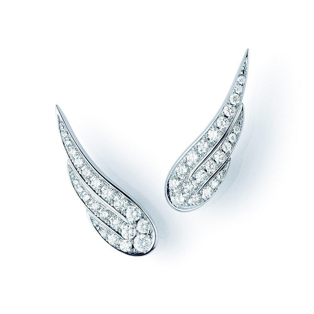 Ohrschmuck Diamond Wings in 18K Weißgold mit Diamant 0,52ct online kaufen