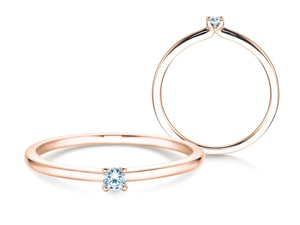 Verlobungsring Classic 4 in Roségold mit Diamant online kaufen