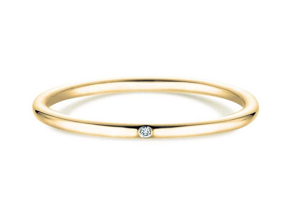 Verlobungsring Promise Petite in 14K Gelbgold mit Diamant 0,005ct online kaufen