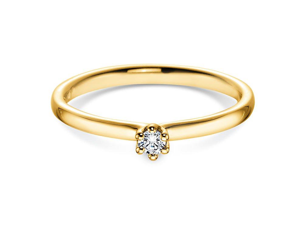 Verlobungsring Classic in Gelbgold online kaufen