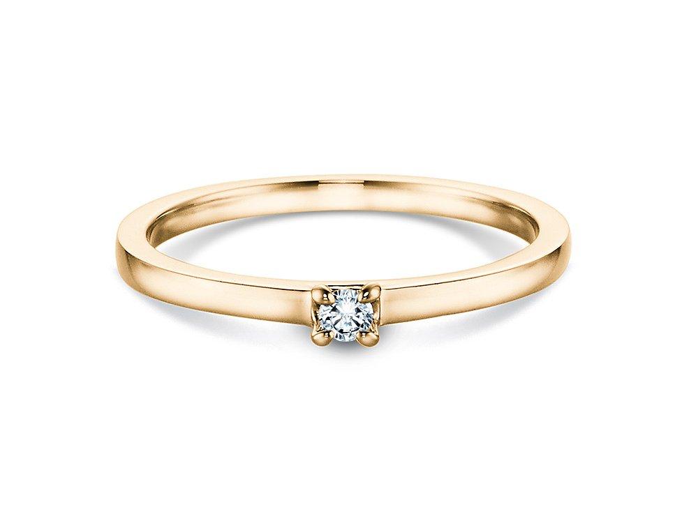 Verlobungsring Modern in Gelbgold online kaufen