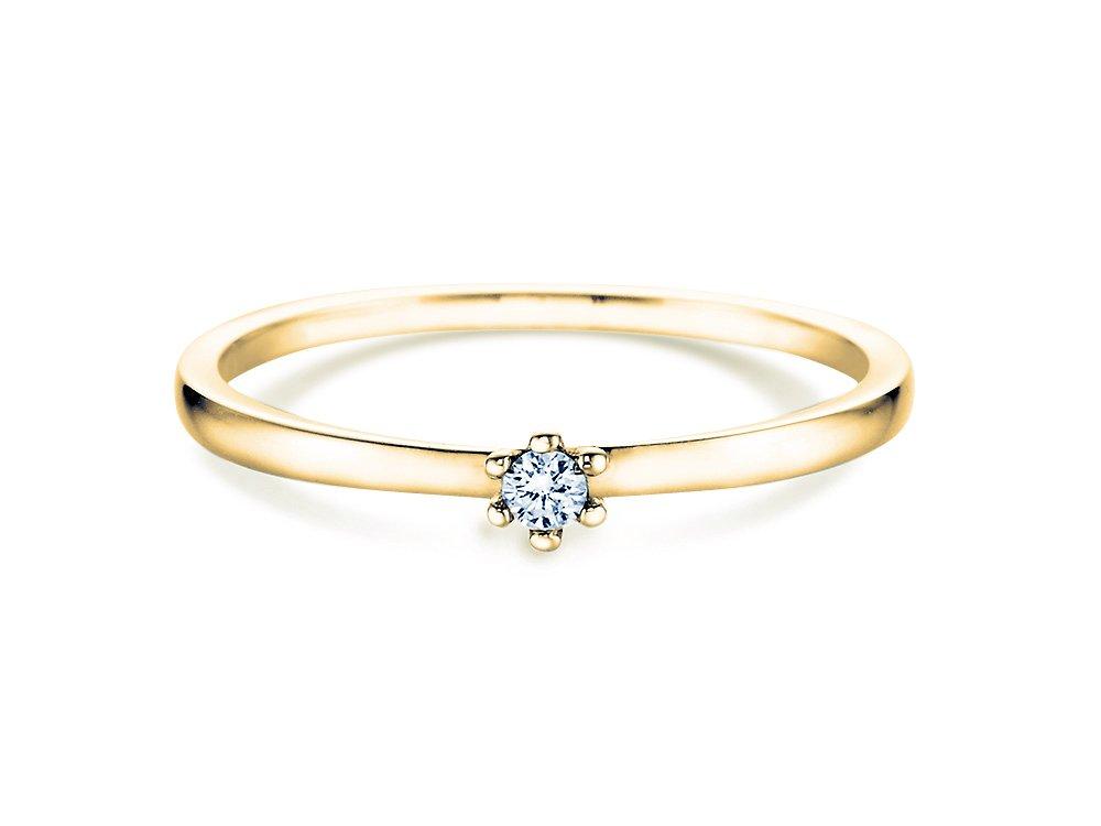 Verlobungsring Classic Petite in Gelbgold online kaufen