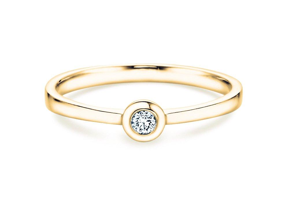 Solitärring Eternal Petite in 14K Gelbgold mit Diamant 0,05ct online kaufen