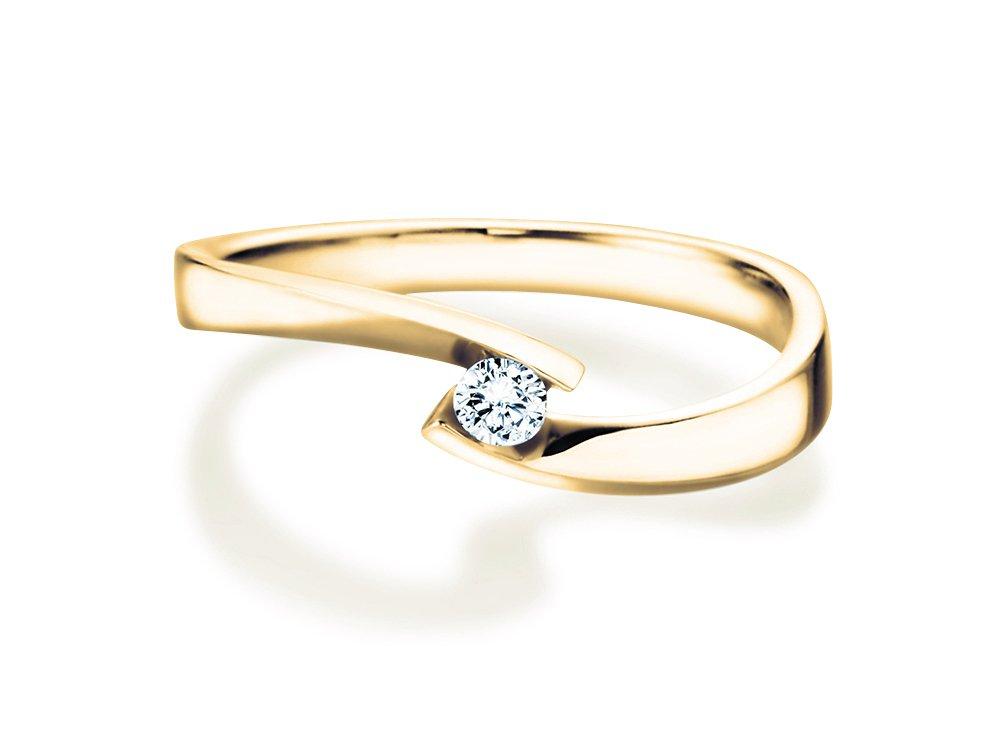 Verlobungsring Twist Petite in Gelbgold online kaufen