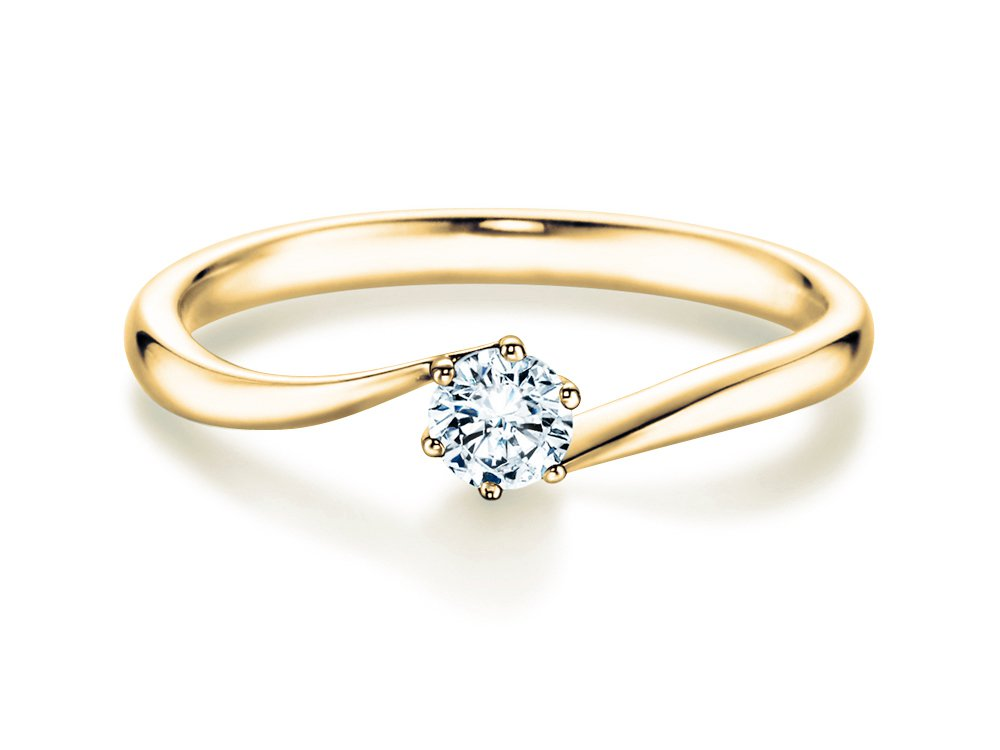 Verlobungsring Devotion in Gelbgold online kaufen