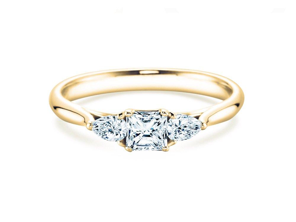 Verlobungsring Glory Princess in 14K Gelbgold mit Diamanten 0,53ct online kaufen