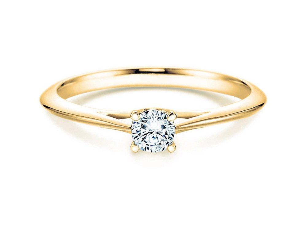 Solitärring Heaven 4 in 14K Gelbgold mit Diamant 0,75ct H/SI online kaufen