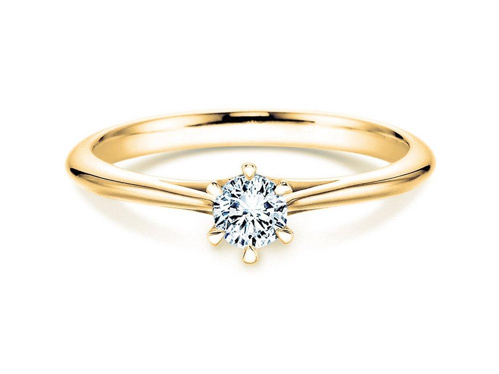 Solitärring Heaven 6 in 14K Gelbgold mit Diamant 0,75ct H/SI online kaufen