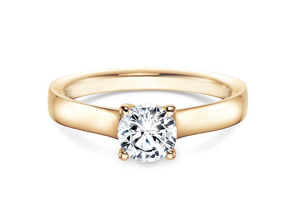 Verlobungsring Modern in 14K Gelbgold mit Diamant 0,75ct H/SI online kaufen
