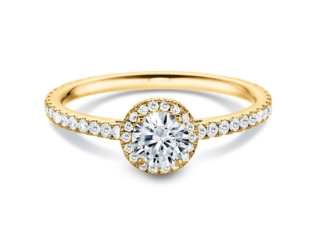 Diamantring Pure Infinity in 18K Gelbgold mit Diamant 0,95ct online kaufen
