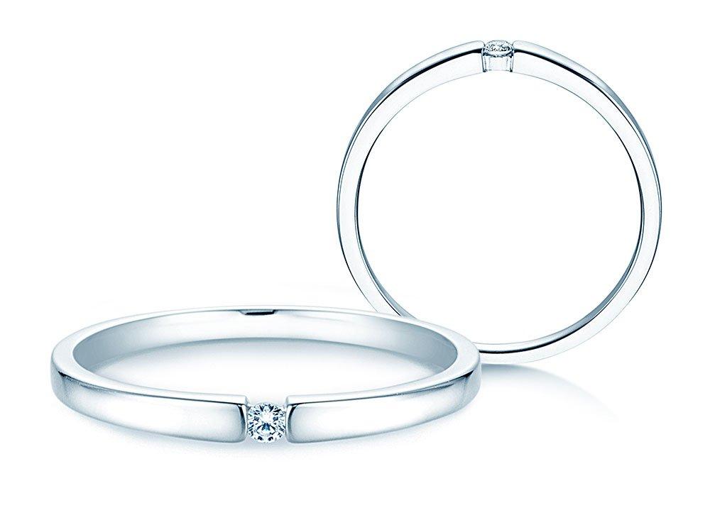 Verlobungsring Infinity Petite in Weißgold online kaufen