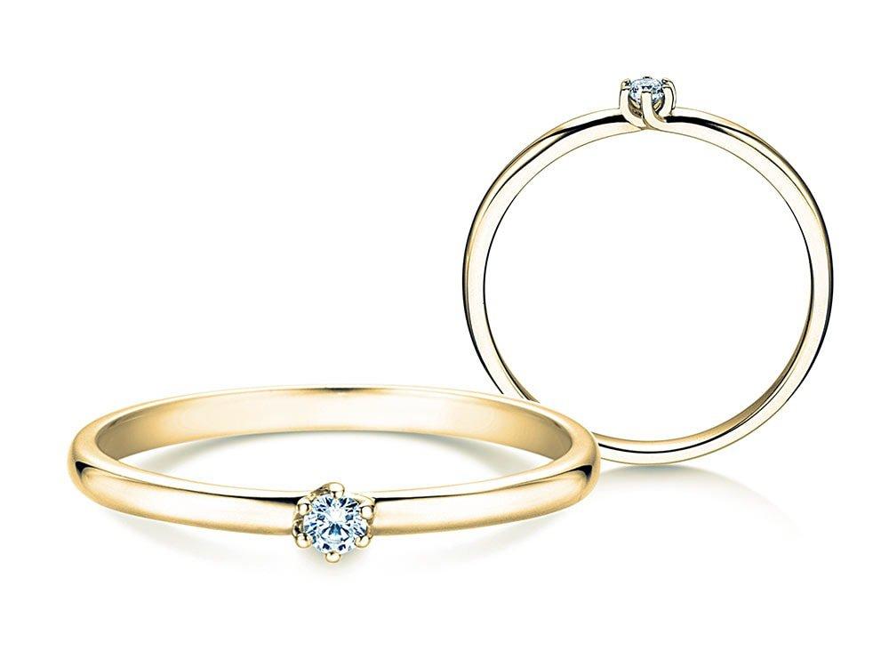 Verlobungsring Melody in Gelbgold online kaufen