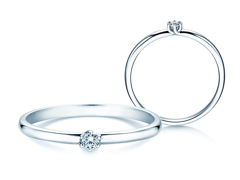 Verlobungsring Melody in 18K Weißgold mit Diamant 0,05ct G/VS online kaufen