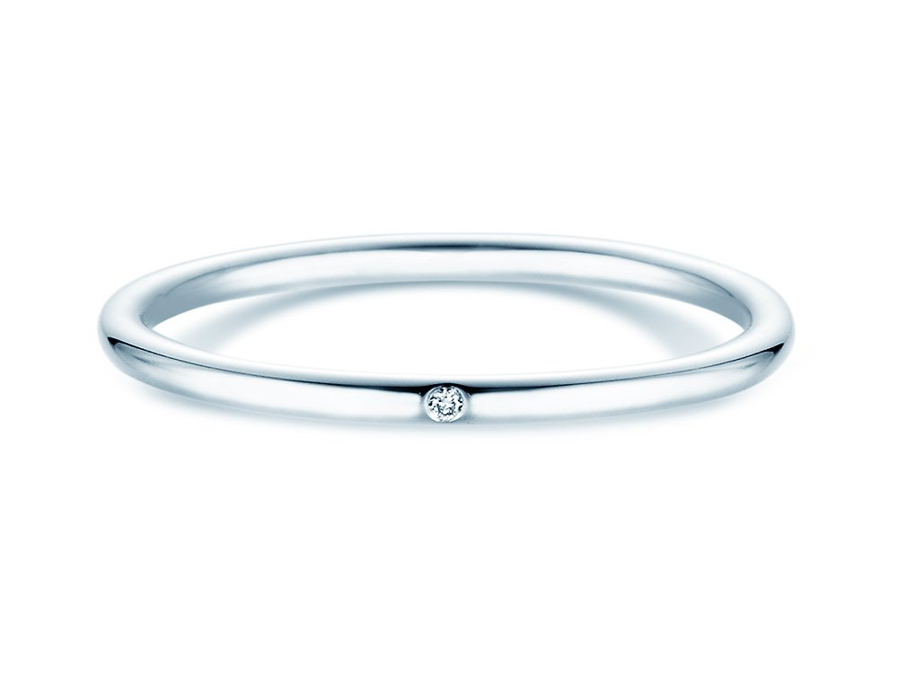 Ring Promise Petite in Platin online kaufen