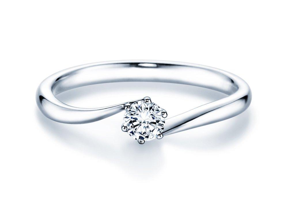 Verlobungsring Devotion in Platin mit Diamant 0,25ct H/SI online kaufen