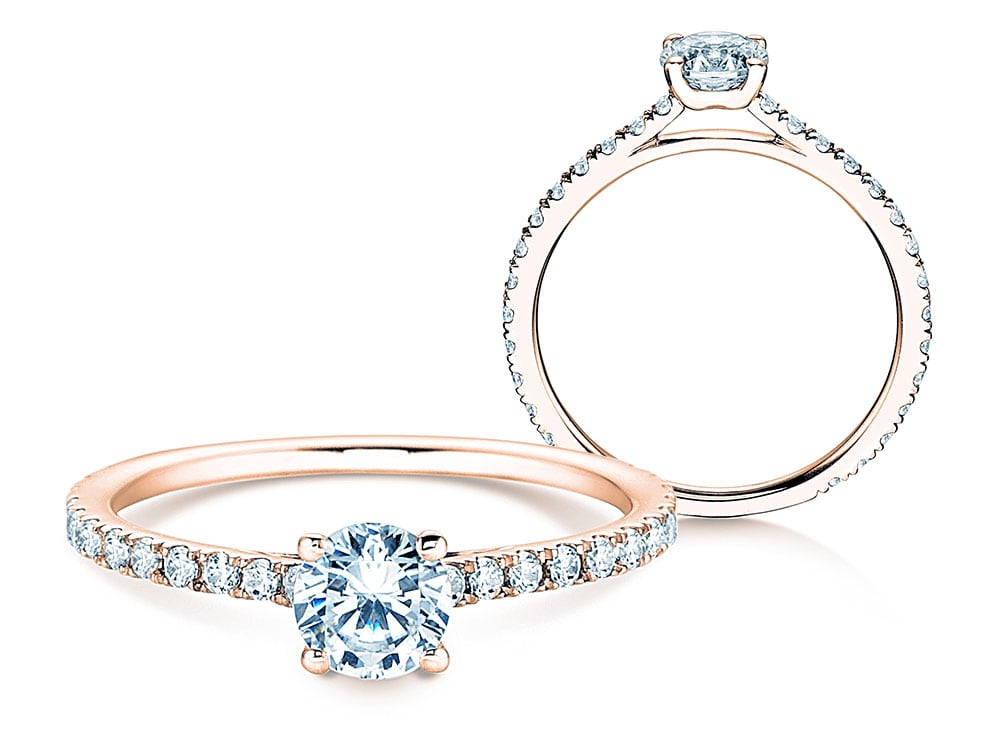 Diamantring Pure Diamond in 14k Roségold mit Diamanten 0,82ct online kaufen