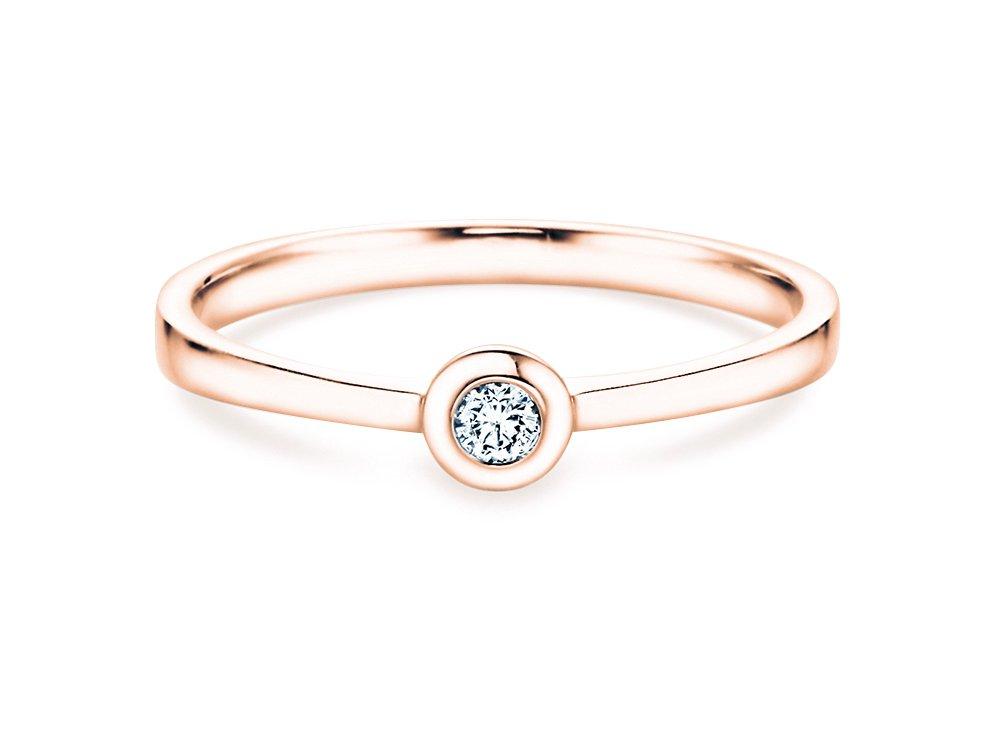 Solitärring Eternal Petite in 14K Roségold mit Diamant 0,05ct online kaufen