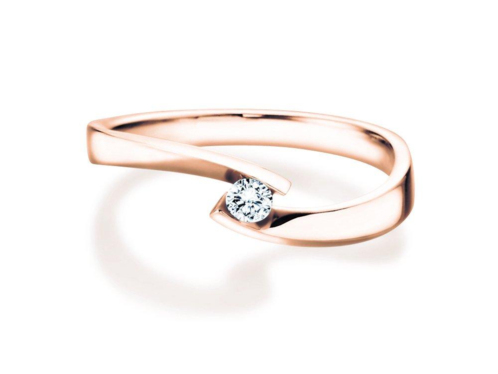 Verlobungsring Twist Petite in Roségold online kaufen