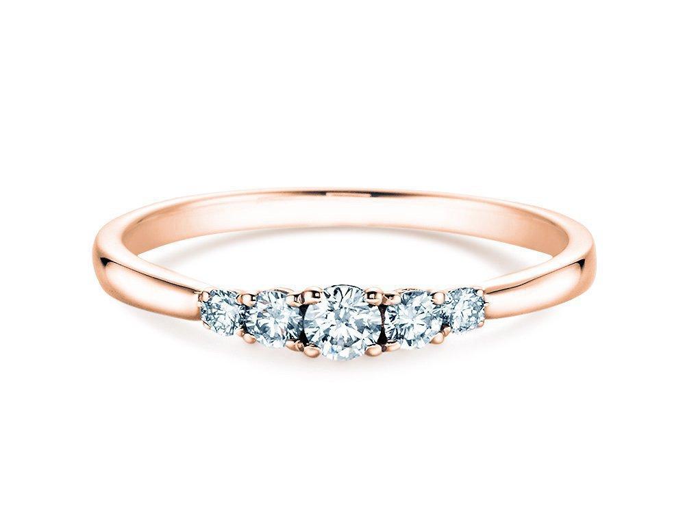Verlobungsring 5 Diamonds in Roségold online kaufen