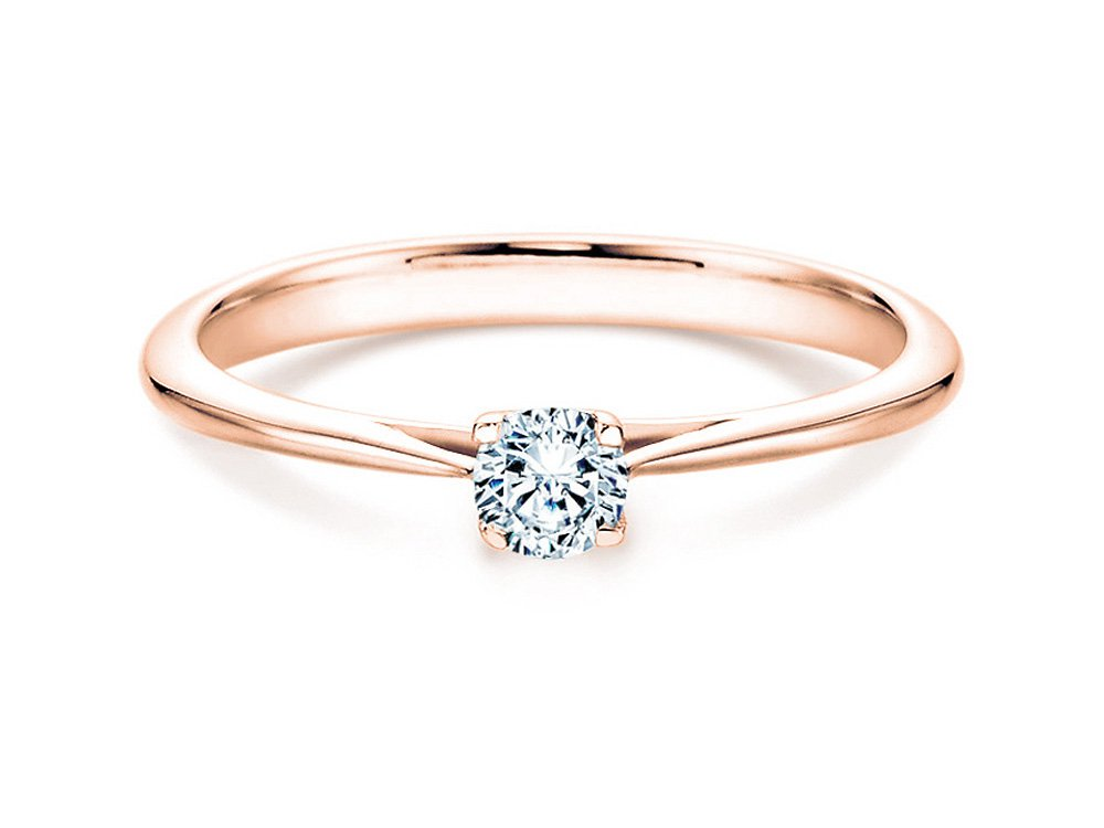 Solitärring Delight in 14K Roségold mit Diamant 0,75ct H/SI online kaufen